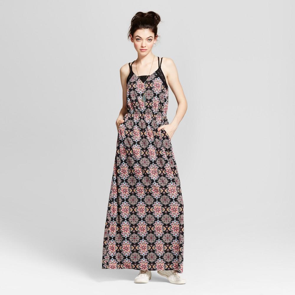 Women's Strappy Knit Maxi Dress - Xhilaration (Juniors') Black M