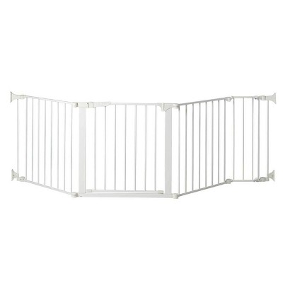 "KidCo Auto Close Configure Baby Gate with 9"" Extension (Total Width up to 89"") - White"