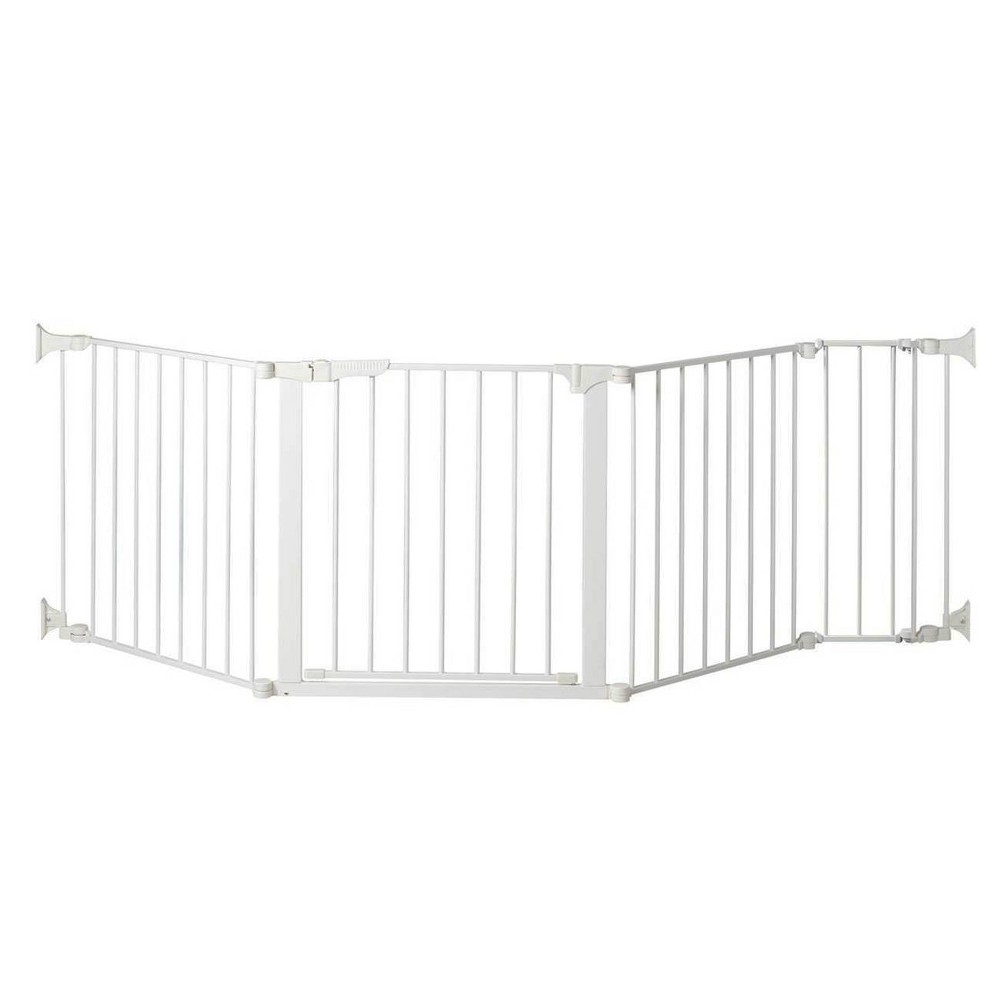 "Image of ""KidCo Auto Close Configure Baby Gate with 9"""" Extension (Total Width up to 89"""") - White"""