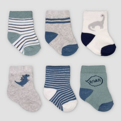 Baby Boys' 6pk Dino Socks - Just One You® made by carter's 0-3M