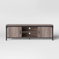 Jackman Industrial Wood TV Stand with Storage Brown - Threshold™