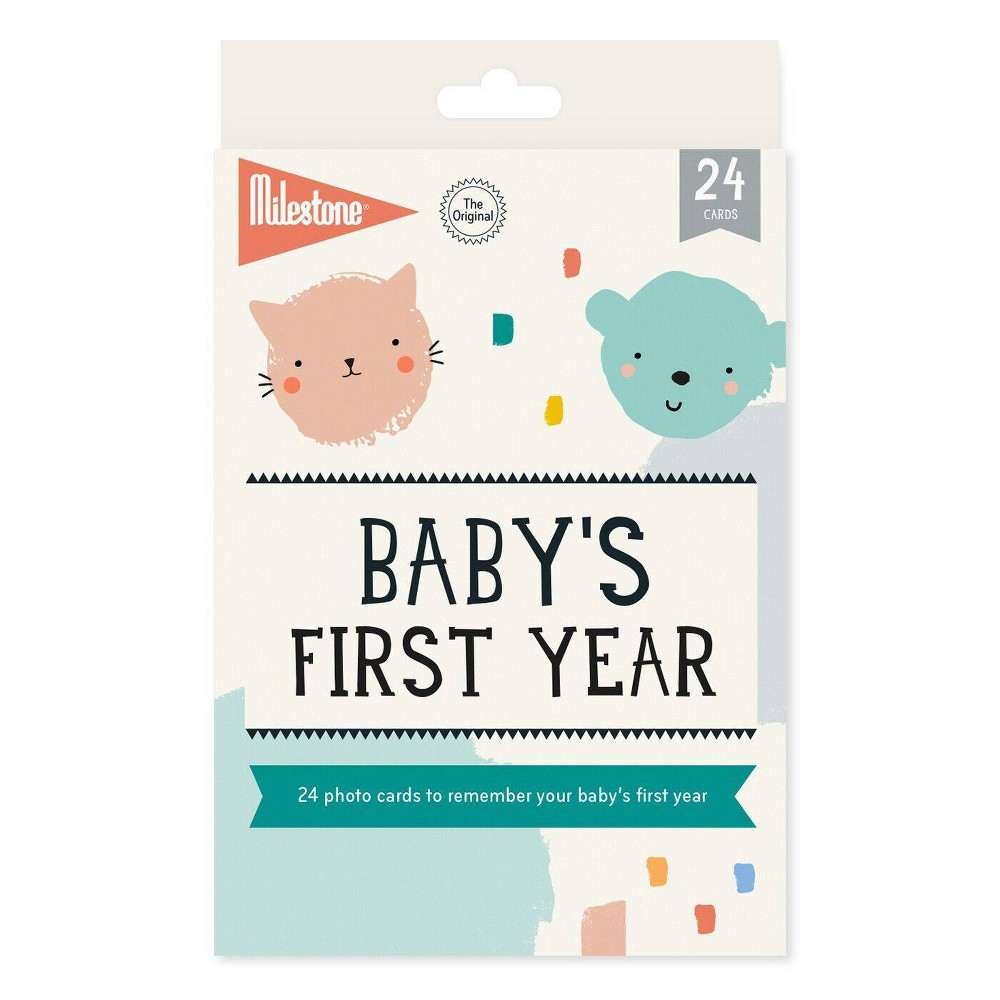 Image of Milestone Baby's First Year Photo Cards - 24pc