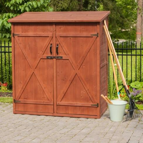 Medium Storage Shed - Brown - Leisure Season - image 1 of 4