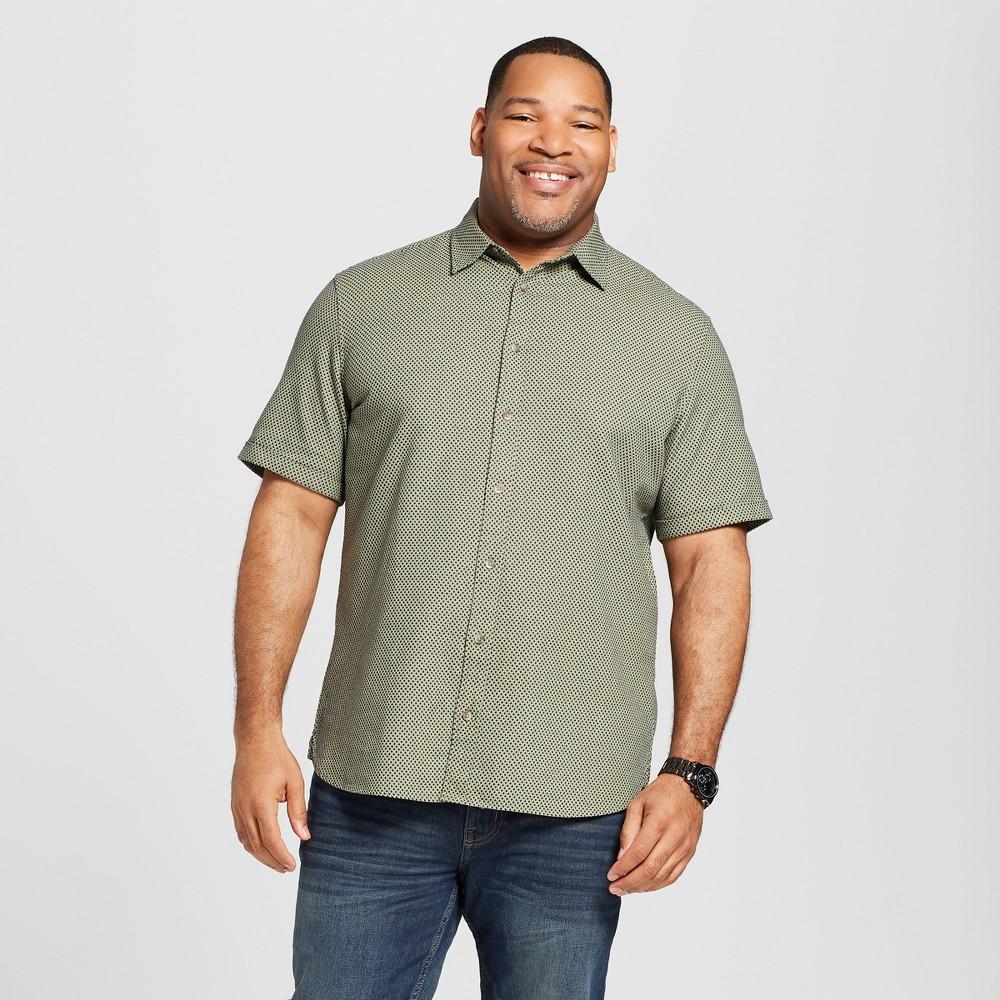 Men's Tall Short Sleeve Novelty Button-Down Shirt - Goodfellow & Co Orchid Leaf Xlt
