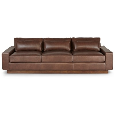 Gentil Dune Leather Sofa Dark Chocolate   Firsthand Home