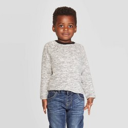 Toddler Boys' Brushed Jersey Knit Long Sleeve T-Shirt - Cat & Jack™ Gray