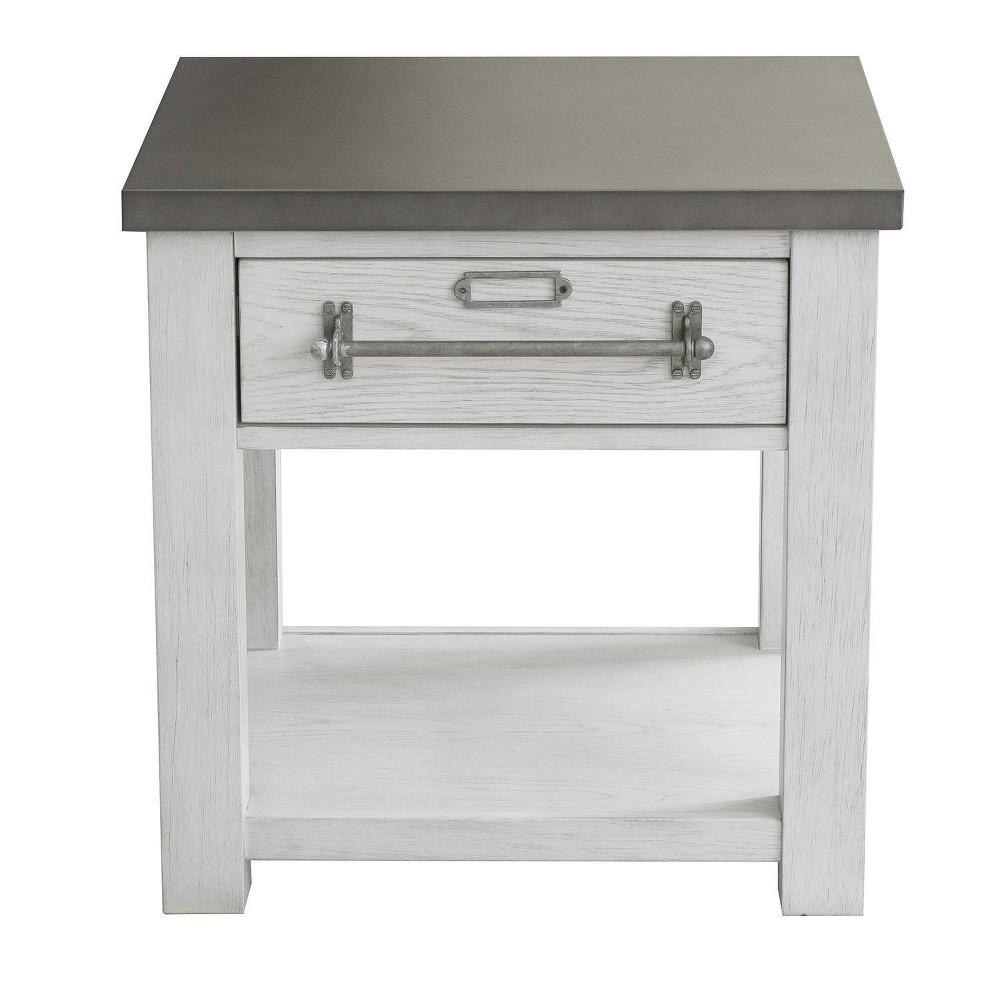 Metal Top Side Table White - Pulaski