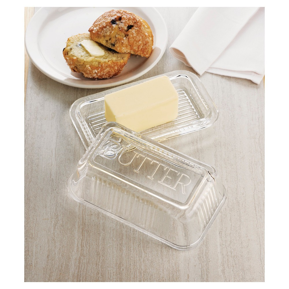Image of Global Amici Classic Butter Dish, Clear