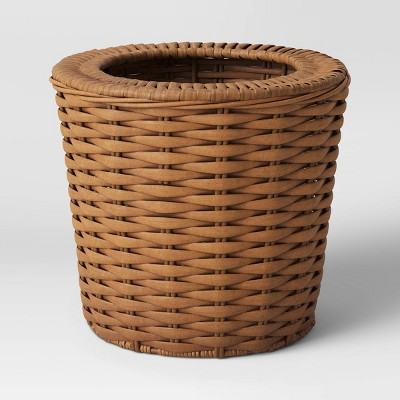 Manmade Wicker Woven Basket Brown - Smith & Hawken™