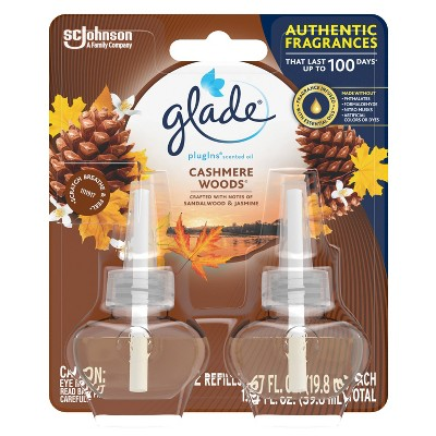 Glade Cashmere Woods Scented Oil Plugin Refills