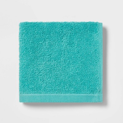 Everyday Solid Washcloth Turquoise - Room Essentials™
