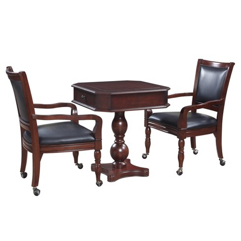 Hathaway Fortress Chess Checkers Backgammon Pedestal Game Table Chairs Set Gany Target