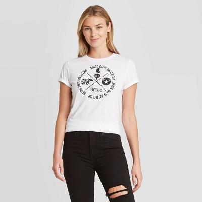 Women's The Office Bears Beets Battlestar Short Sleeve Graphic T-Shirt - White