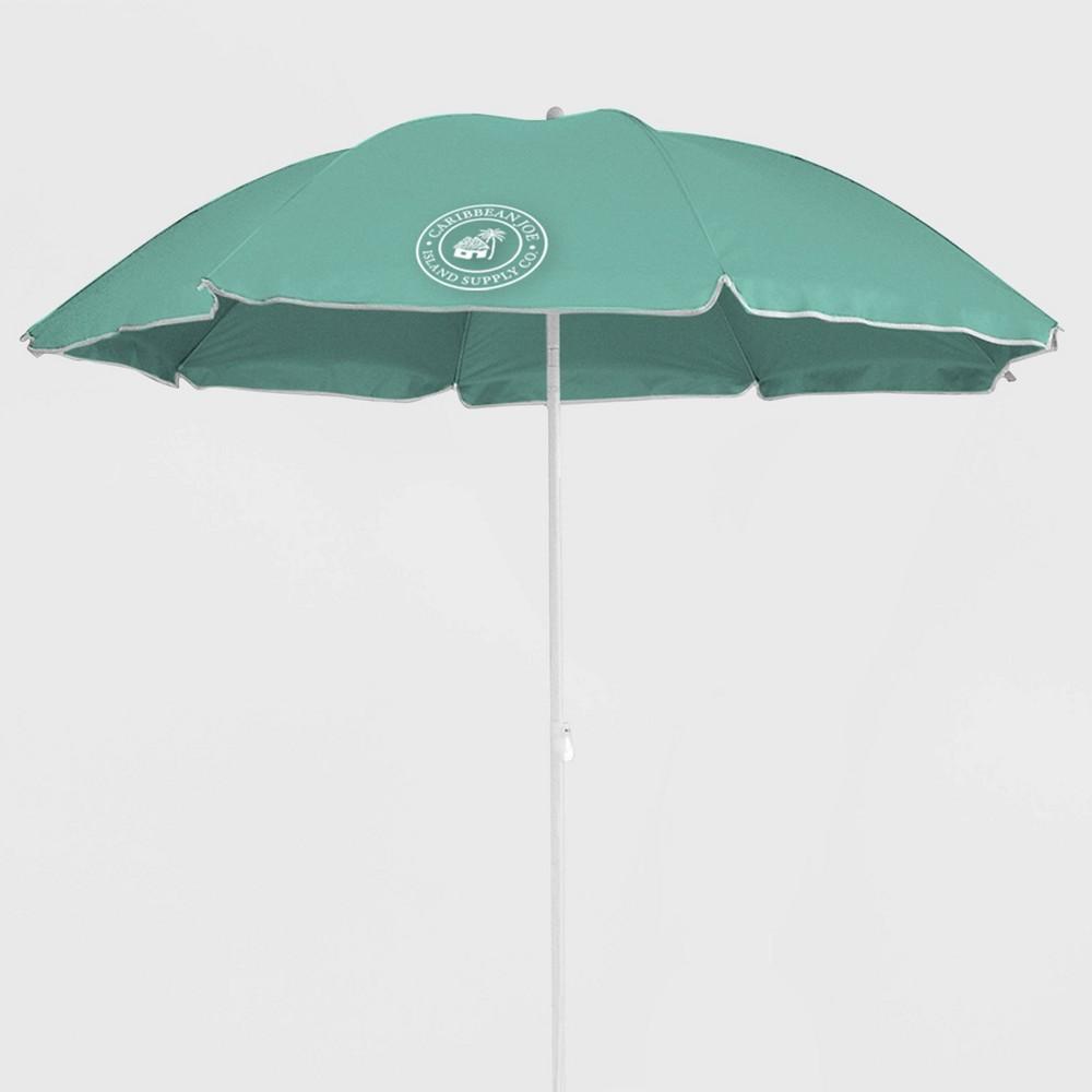 Image of Caribbean Joe Outdoor Beach Stick Umbrella - Mint, Blue