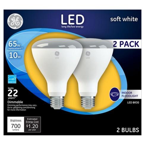 GER LED 65 Watt BR30 Light Bulb Soft White 2pk Target