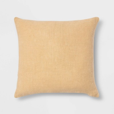 Linen Square Throw Pillow Gold - Threshold™