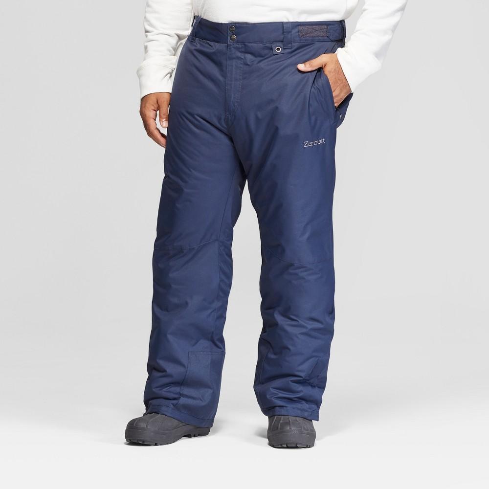 Men's Big & Tall Snow Pants - Zermatt Navy (Blue) 4XL