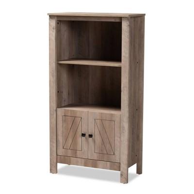 "51.8"" 3 Tier Derek Wood Bookcase Oak - Baxton Studio"