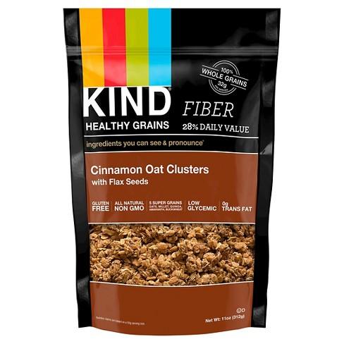 KIND Healthy Grains Fiber Cinnamon Oat Clusters - 11oz - image 1 of 4