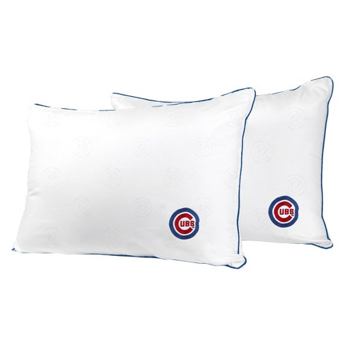 MLB Chicago Cubs White Embroidered Bed Pillow 2pk - image 1 of 1