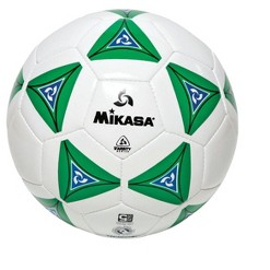 Mikasa No 4 Deluxe Cushioned Soccer Ball, Green/White/Blue