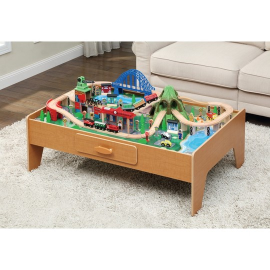 Maxim Enterprise 100pc Mountain Train Set with Activity Table image number null