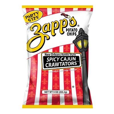 Zapp's New Orleans Kettle Style Spicy Cajun Crawtators Potato Chips - 9oz