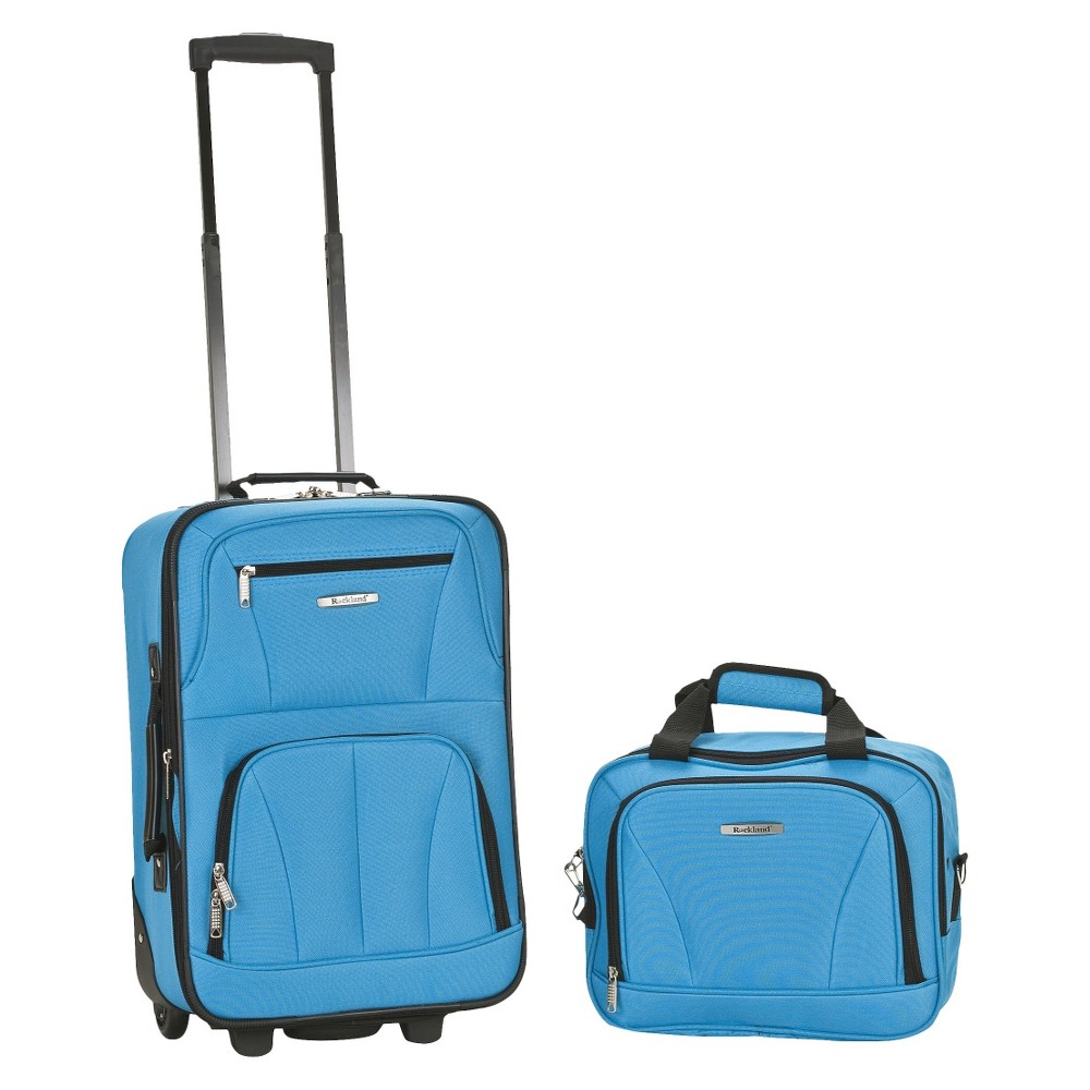 Rockland Rio 2pc Carry On Luggage Set Turquoise