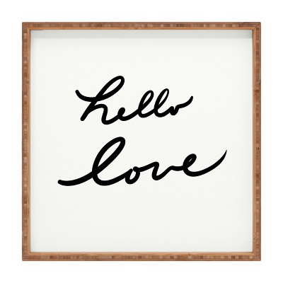 Lisa Argyropoulos Hello Love On White Tray (16 )- Deny Designs