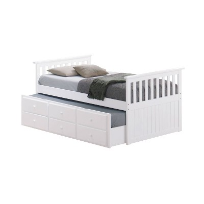 Bed With Trundle White Storkcraft