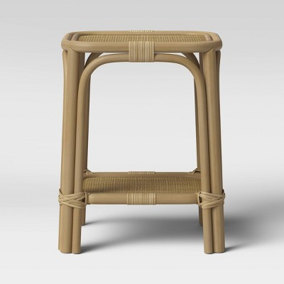 Monetta Square Rattan Woven Top Accent Table Natural Brown - Threshold™