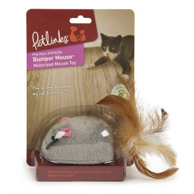 Petlinks Bumper Mouse Electronic Motion Cat Toy - Gray