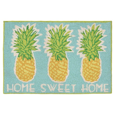 Frontporch Home Sweet Home Aqua Rug - Liora Manne - image 1 of 2