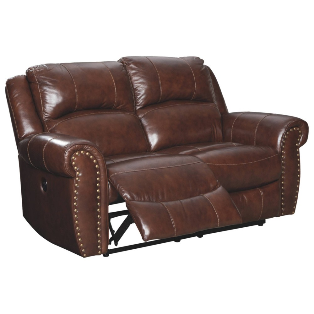 Bingen Reclining Power Loveseat Harness Brown - Signature Design by Ashley