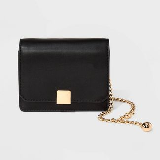Flap Chain Strap Crossbody Bag - A New Day™ Black