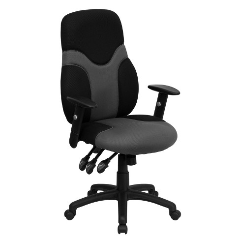 Ergonomic Swivel Task Chair Black/Gray - Flash Furniture - image 1 of 4