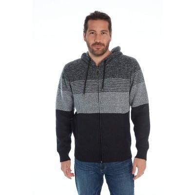 Distortion Men's Zip Up Hooded Sweater