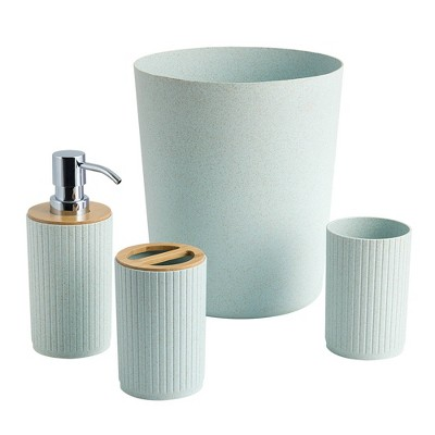 4pc Ethan Bath Coordinate Set Teal - Allure Home Creations