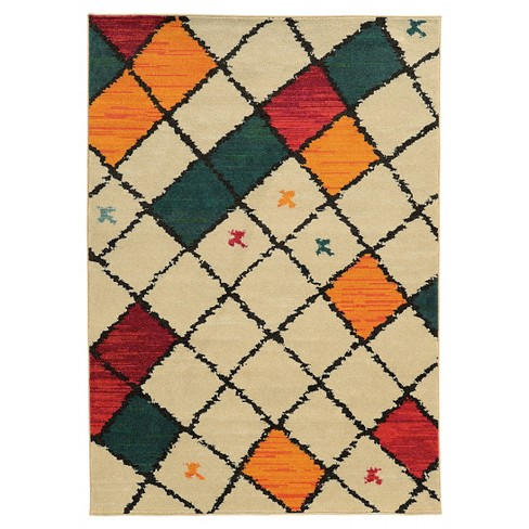 Checkered Area Rug - Cream - image 1 of 1
