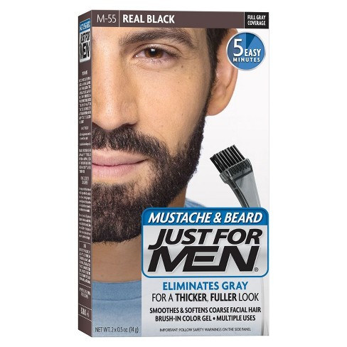 just for men mustache and beard hair color target