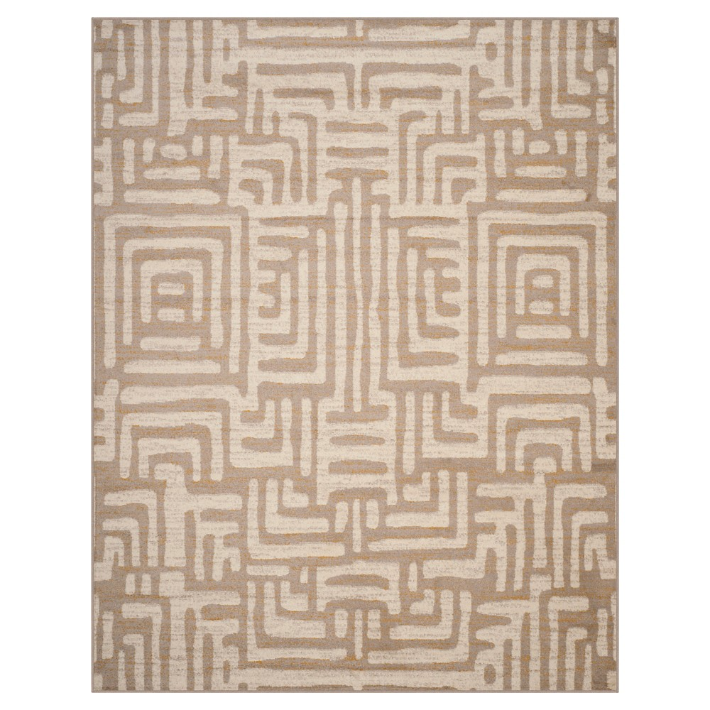 Ivory/Mauve (Ivory/Pink) Shapes Loomed Area Rug 8'X10' - Safavieh