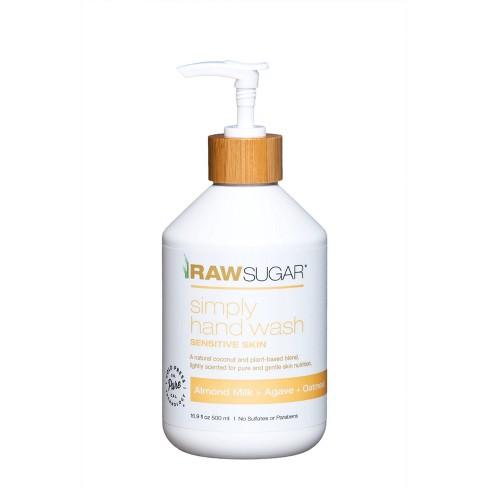 Raw Sugar Sensitive Skin Simply Hand Wash Almond Milk + Agave + Oatmeal - 16.9 fl oz - image 1 of 4