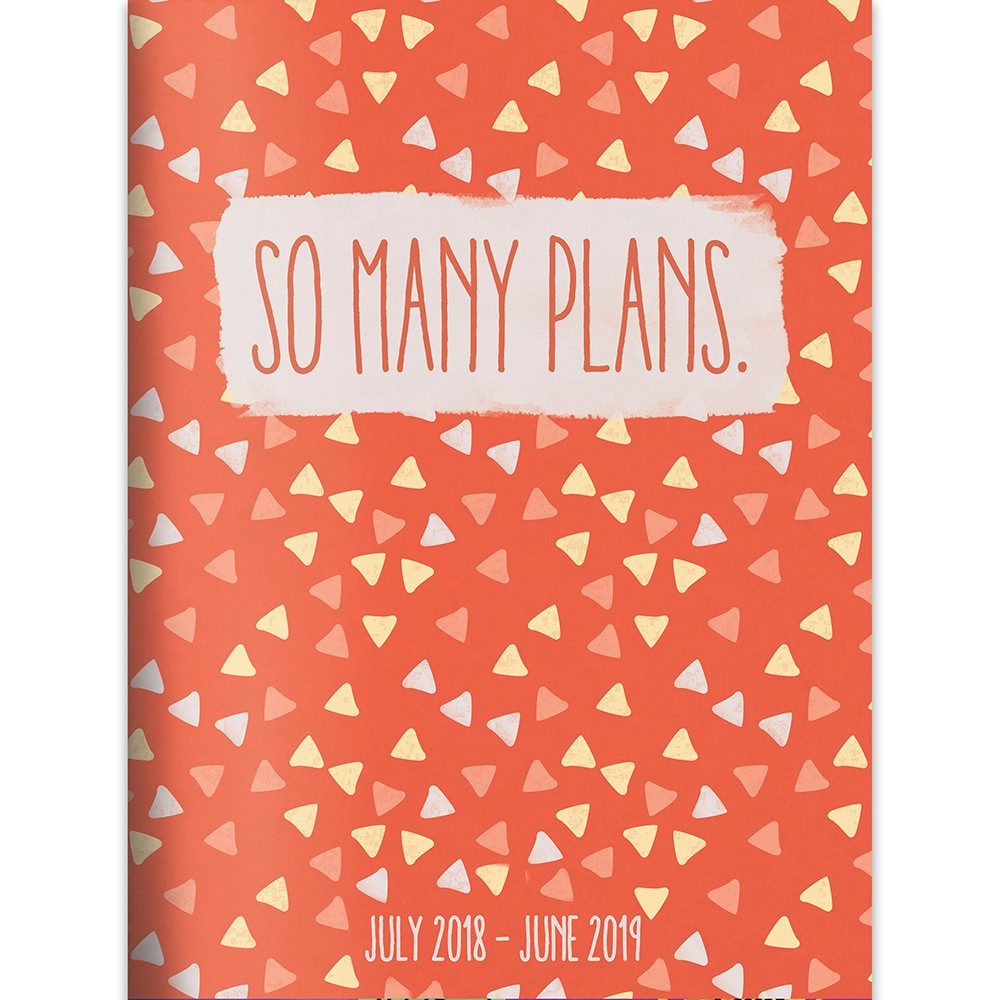 2018 - 2019 Academic Spiral So Many Plans Monthly Planner, So Many Plans