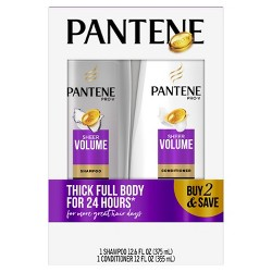 Pantene Pro-V Sheer Volume Shampoo and Conditioner Bundle Pack - 24.6 fl oz