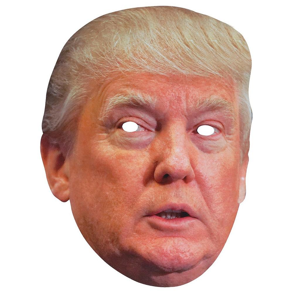 Donald Trump Paper Mask, Adult Unisex, Multi-Colored