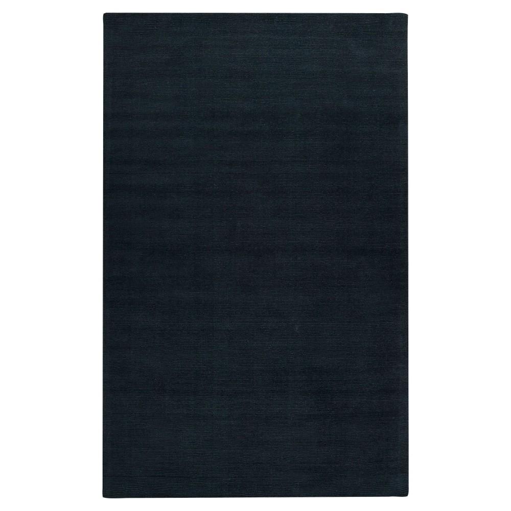 Black Solid Loomed Area Rug - (7'6