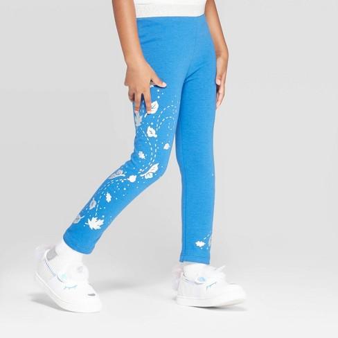 "Toddler Girls' Frozen ""Falling Leaves"" Leggings Pants - Blue - image 1 of 3"