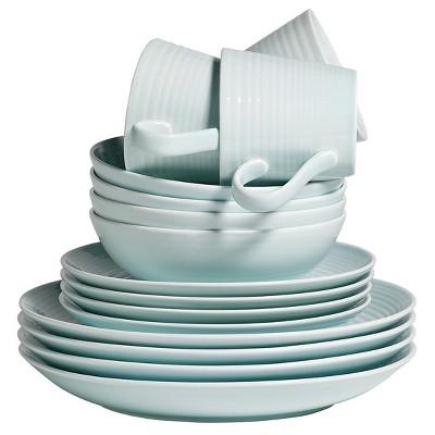Gordon Ramsay by Royal Doulton® Maze Stoneware 16pc Dinnerware Set Blue