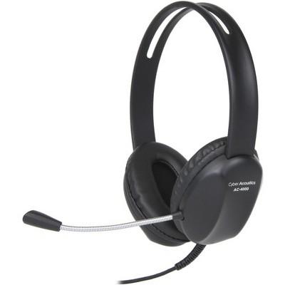 Cyber Acoustics AC-4000 Headset - Stereo - Mini-phone - Wired - Over-the-head - Binaural