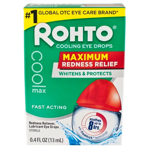 Rohto Maximum Redness Relief Cooling Eye Drops .4 fl oz - image 1 of 4
